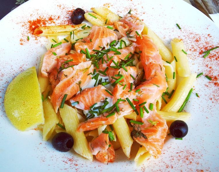 Food Foodphotography DeliciousFood  Pasta Smoked Salmon  Italianfood Delicious Lunch Lunch Time! Eating