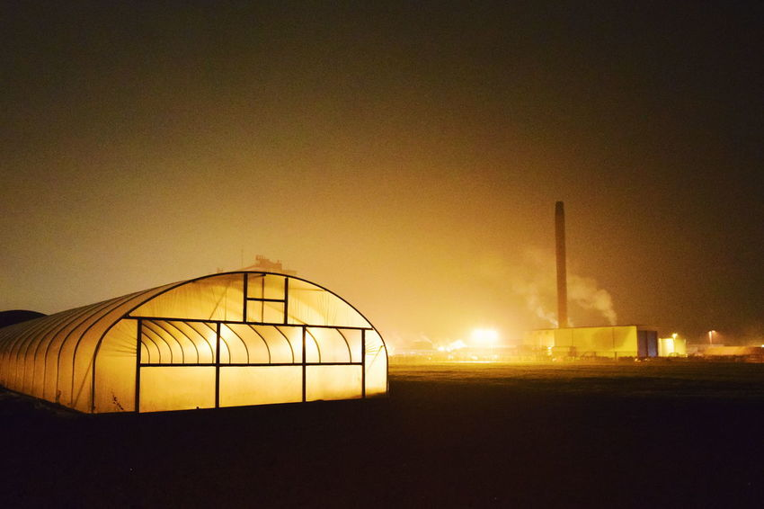 Bladerunner arsthetic. Contemporaryphotography Contemporary Photography Polytunnels Polytunnel Backlit Subject Backlit Agriculture Farm Nightphotography Night Photography Nightscape Night Lights Night Shot Bladerunner Bladerunnerinspired Illuminated