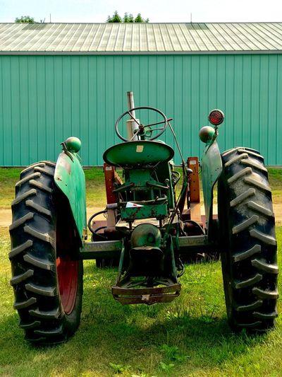 Pole Barn Farm Outdoors Green Tractor