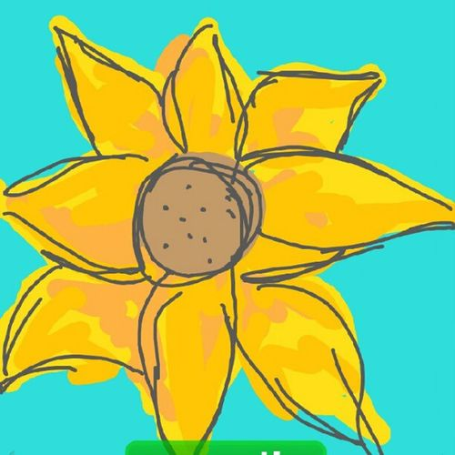 @bellarooniface 's Awesome Drawing for Flower in DrawSomething @lauramconie @nodevolucion