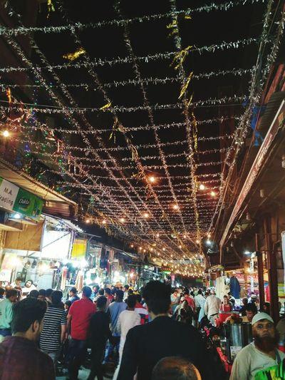 Market Night Market Stall Ramadan  Crowd City Life Puranidelhi