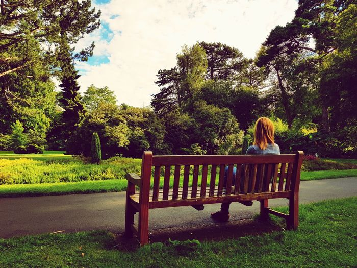 Tree One Person Outdoors Cloud - Sky Sky Day Girl On The Bench Tree Tranquility Rethink Things Be. Ready.
