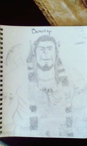 This one is my drawing of Durotan! Love Art♥ Love Movies Love Everybody Enjoying Life