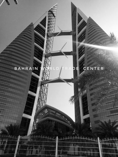 Bahrain Bahrain World Trade Center Black And White Black And White Photography HTC HTC 10 Skyscraper Architecture Travel Destinations Travel Mobile Photography