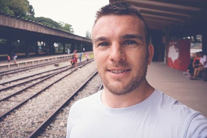 Checking out The Old Tanjong Railway Station which was used to get from Singapore to the rest of Asia which was having an open day. Railways Railway Singapore ASIA Ktm History Architecture Sonyrx100iv Selfie Man Scruff Beard Me Frecklesfordays Happy Takingphotos Tanjongpagar
