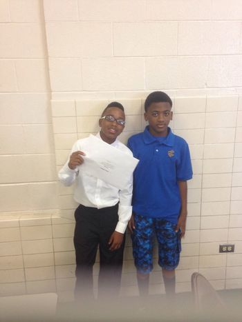 Him and his brother at the graduation