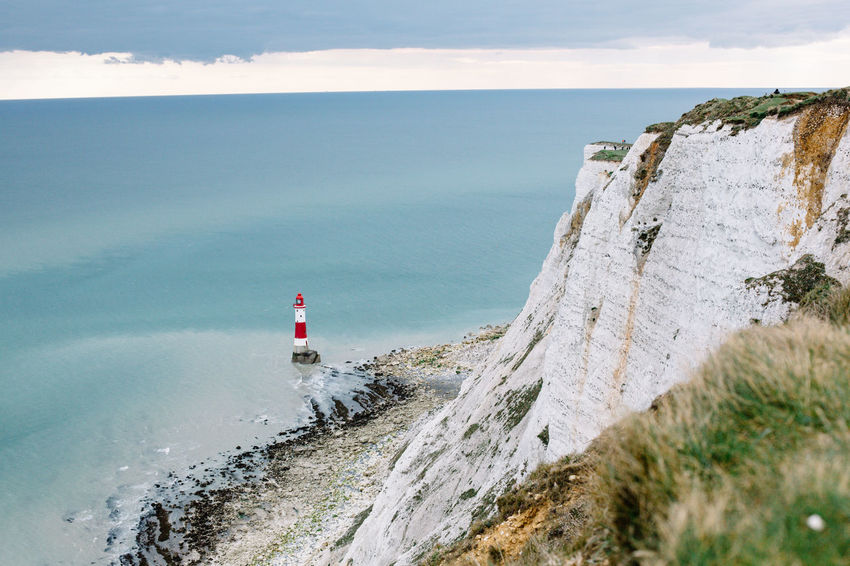 Beach Beachy Head Beauty In Nature Brighton Cloud - Sky Great Britain Lighthouse Lighthouse Lighthouse_lovers My Year My View Nature No People Outdoors Sea Sky Water White Rocks Lost In The Landscape Be. Ready.
