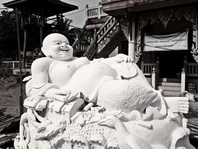 Black & White Black And White Photography Buddhism Thailand Thailandtravel Thailand Photos Thailand🇹🇭 Buddha Statue Buddhist Temple Buddha Image Buddha Statue Sculpture Art And Craft Statue Architecture Day Retail  Religion
