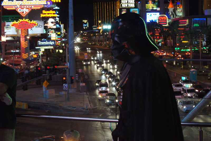 Long day at the office Anikin Anikin Skywalker Black Darth Vader Exhausted Las Vegas Long Day Long Day At The Office Occupation Office Star Wars Street Tired Tough Day Weary Work