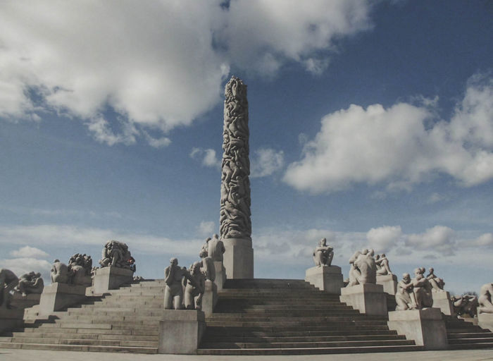 Ancient Civilization Architectural Column Architecture Art And Craft Built Structure Carving Cloud - Sky Craft Day History Human Representation Low Angle View Memorial Monument Nature No People Outdoors Representation Sculpture Sky Statue The Past Travel Travel Destinations