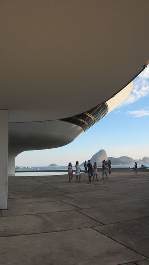 People at niemeyer museum of contemporary arts