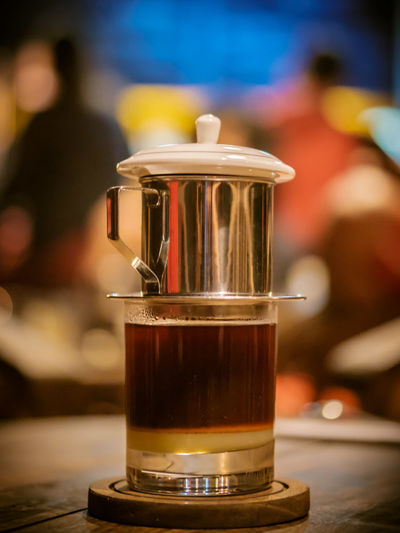 Vietnam Drip Coffee Shop Coffee Time Coffee ☕ Close-up Coffee Break Coffee Cup Day Drink Focus On Foreground Food Food And Drink Freshness Indoors  One Person Refreshment Table Vietnam Drip