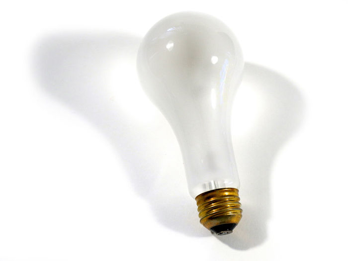 Close-up Flood Indoors  Leaning Light And Shadow Light Bulb Lighting Equipment No Led No People Not Ecologic Not Environmental Old Technology Shades Shadow Studio Shot White Background White Color White On White