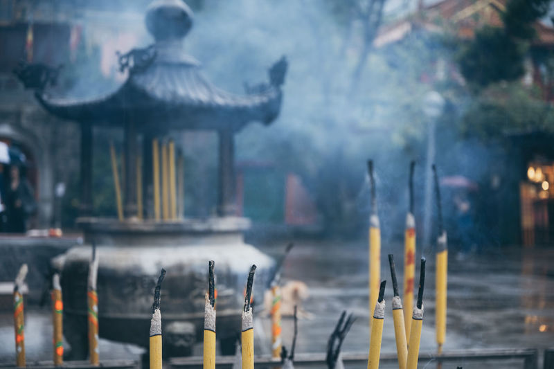 Incenses at temple
