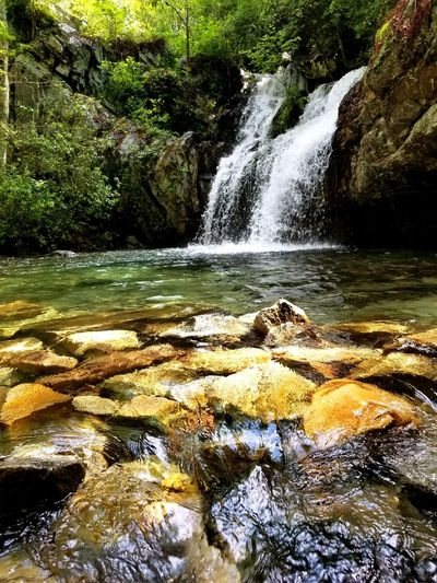 Water Nature Beauty In Nature Outdoors No People Tree Day Tranquility Scenics Sky Beauty In Nature Freshness Tree Waterfall Waterfalls And Calming Views  Water's Edge Waterfalling Waterfall In Mountain Waterfall Photography Waterfalllovers