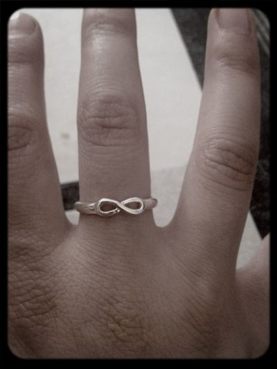 Black And White Infiny Ring