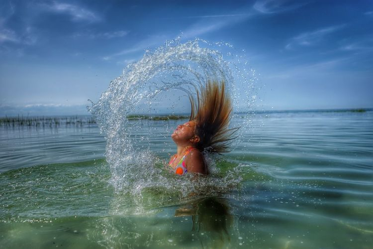 My Best Photo 2014 Grace at the Cape Color Portrait Portrait Water Mermaid
