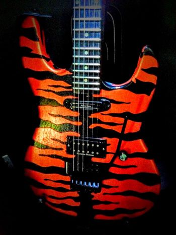 Tiger Striped Electric Guitar Orange Black Mista Scary Mine Oneofakind
