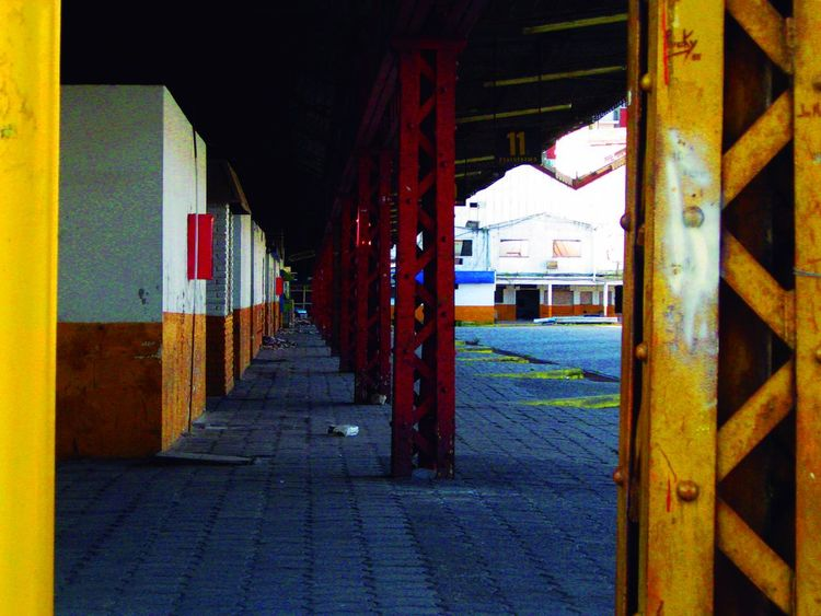 Old bus terminal Perspective Architecture Building Building Exterior Built Structure Busterminal Day Multi Colored No People Oldbuilding Outdoors Terminal The Way Forward Yellow