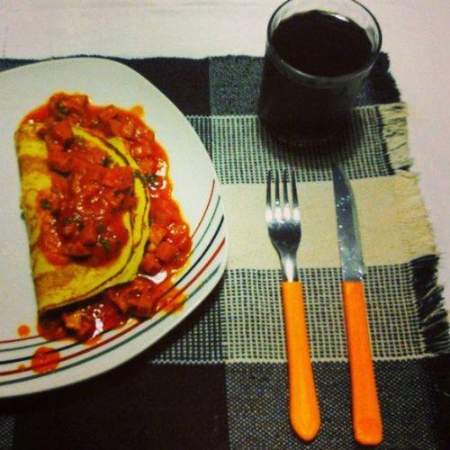 Jantar Panquecas DavidHouse Coca @davidmafra @fabianakelen