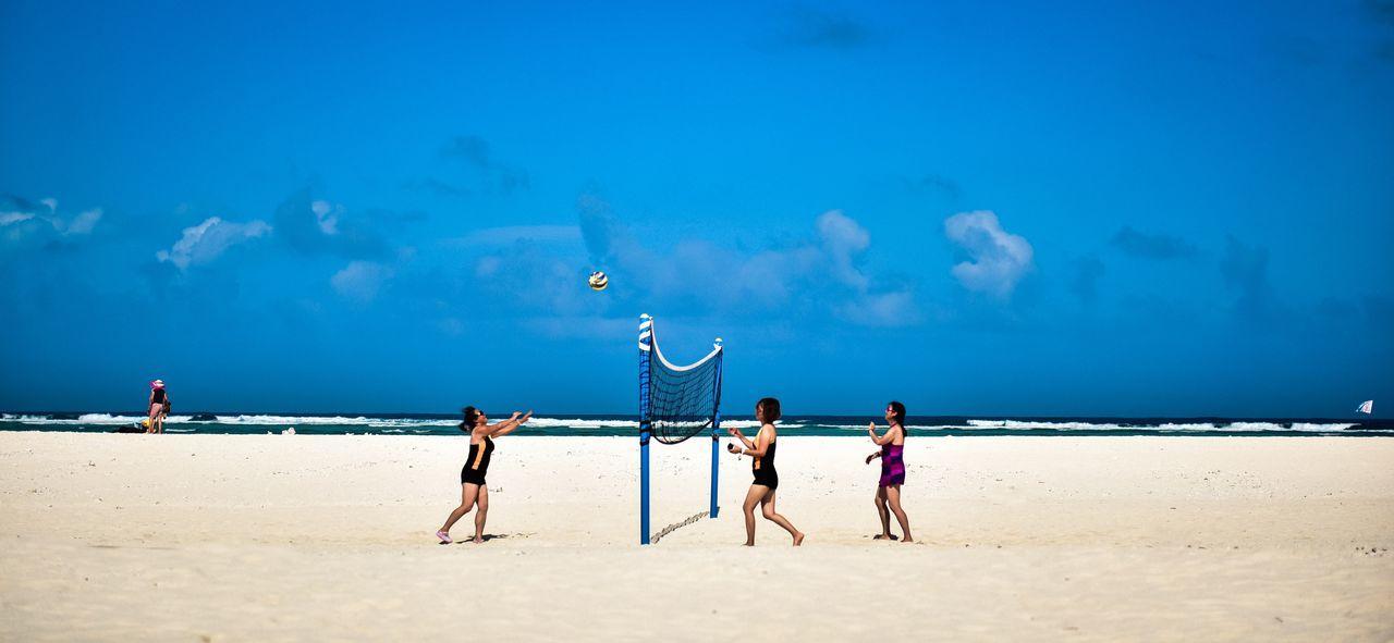 沙滩排球 中国 中国西沙 西沙旅游 西沙群岛 大海 海上 海景 海浪 沙滩