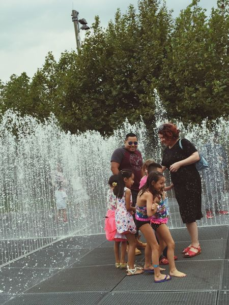 Having a blast I Heart New York Sprinkler Fountain Happy People Happy Children New York City Brooklyn Water Fountain NYC In Brooklyn