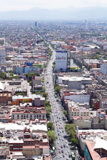 Vista desde la Torre. Eje Central Mexico City Cars City Cityscape Architecture City Building Exterior Crowded Residential District Mobility In Mega Cities High Angle View Built Structure Aerial View Outdoors Day Skyscraper Travel Destinations Sky