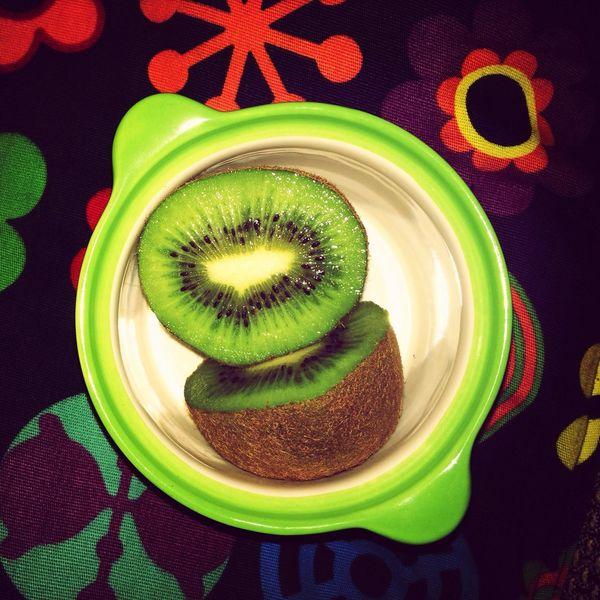 Eating Kiwi Yummi :) Snack