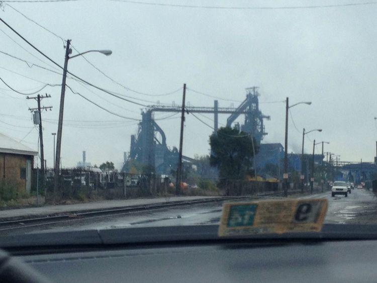 The blast furnace known as Zug Island. Zug Island River Rouge Detroit Pure Michigan