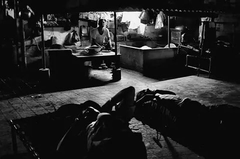 Migrant workers -terrace - bedroom and dinning room, Calcutta Changing The World Street Photography The Moment - 2014 EyeEm Awards Black & White