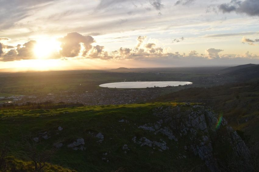 Cheddar Gorge Nature Beauty In Nature Sunset Scenics Tranquility Water Sea Sky Tranquil Scene Outdoors No People Cloud - Sky Landscape Beach Grass Mountain Day Hiking Perspectives On Nature Be. Ready. Be. Ready. EyeEm Ready