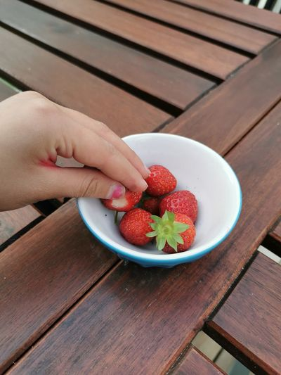 strawberry on