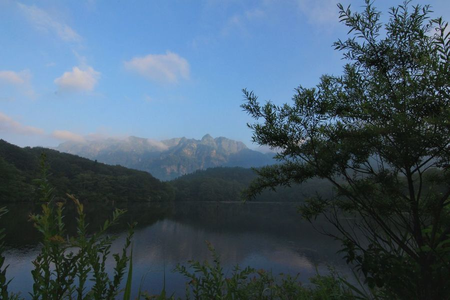 なかなか鏡にならない鏡池😅 Lake Lake View EyeEm Best Shots EyeEm Nature Lover Water Reflections Water Reflection Beautiful Nature 暑いは禁句?😵おはよう!ファイト!😡