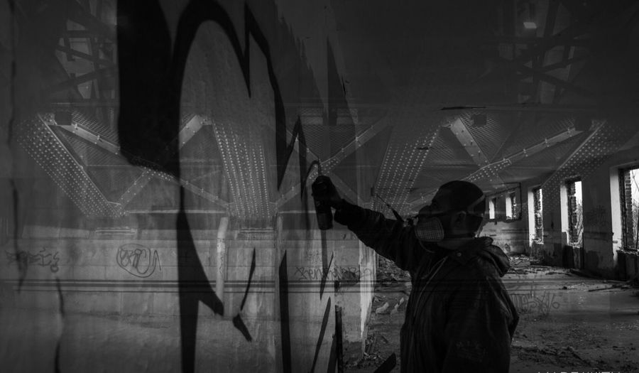 Double Exposure Double Bnw Bnw_life Bnw_collection Bnw_captures Paint Portrait People Nikon Bnw_worldwide Bridge My Favorite Photo The Street Photographer - 2016 EyeEm Awards