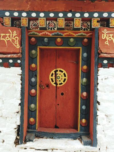 Door of the Mani Chukor or Water Wheel Mani Bhutan Bhutanese Culture Dungtsemonastery Bhutan_ig Bhutanese Architecture EyeEmNewHere