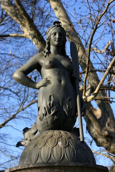One of the 4 mermais of the bridge over the pond in Parco Sempione, Milano, Italy Milan Myth Natural Light Parco Sempione Statue Sunlight Winter Art And Craft Bridge Detail Cast Iron Sculpture Cast Iron Skillet Clear Sky Female Likeness Human Representation Low Angle View Mermaid No People Outdoors Sculpture Sculpture In The City Sorelle Ghisini Statue Sun Light Warm Light