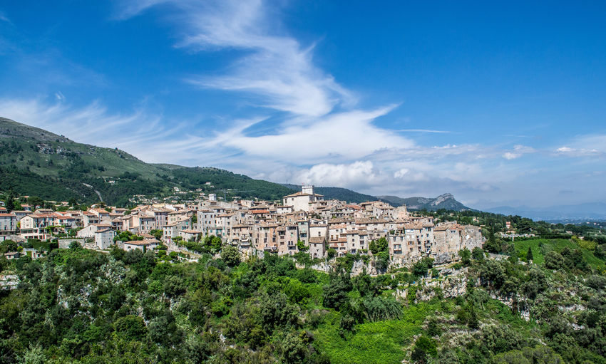 View of townscape against sky