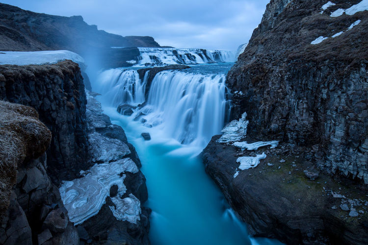 Bestoftheday Blue Hour Bluesky Canon Filtered Image Flowing Water Frozen Full Frame Ice Iceland Idyllic Landmesser Long Exposure Longexposure Mountain Nature Non-urban Scene Outdoors Photography Picoftheday Power In Nature Rock - Object Water Waterfall Winter Market Reviewers' Top Picks