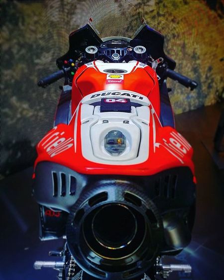 Superphoto of the Ducati Gp15 Love it; from Eicma 2015 Motogp Dovi04 Akrapovic Motorcyclelife