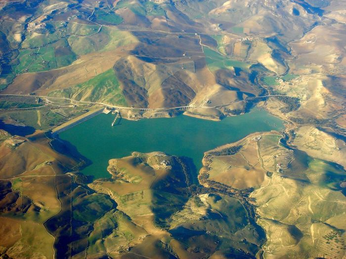 Flighing High Aerial View Above High Up Landscape Water Agriculture Cultures No People Outdoors Reservoir Day EyeEmNewHere Aerial Photography Geometric Shape