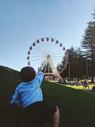 big baby or tiny Ferris wheel Jaspercharles Outdoorlife Perthisok Mothersday Babyboy Childhood Fremantle  View ViewfrOmbeLOw Amusement Park Women Boys Outdoor Play Equipment Playground