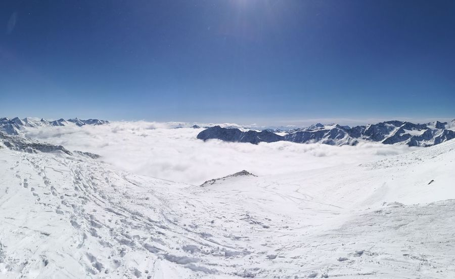 Snow Mountain Ski Sky Clouds Beauty In Nature Winter über Den Wolken Soelden Beauty In Nature Winter