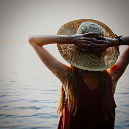 The goodbye Lifestyles One Person Leisure Activity Hat Beauty Women Outdoors Sunset Silhouettes Sunset Sunset_collection Long Goodbye EyeEmNewHere EyeEmNewHere