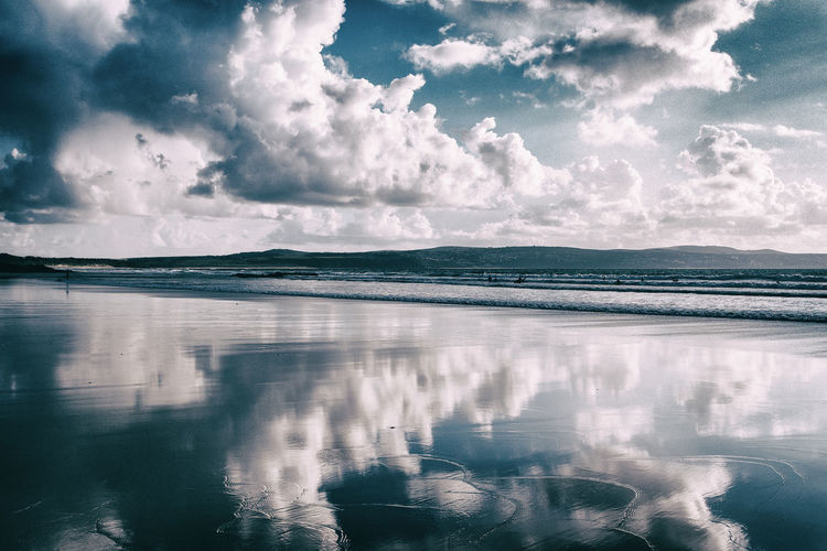 Beach Life Beach Photography Beach View Beach Beach Day Beachphotography Beauty In Nature Cloud - Sky Clouds And Sky Cornwall Uk Day Idyllic Nature No People Non-urban Scene Outdoors Reflection Scenics - Nature Sea Sky Tranquil Scene Tranquility Travel Water Waterfront