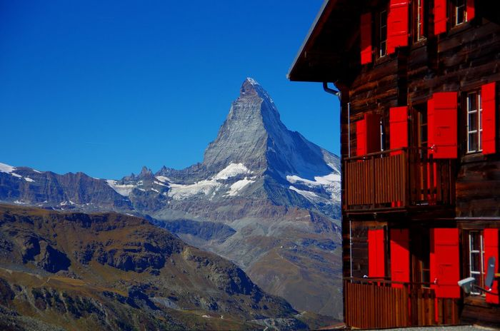 Matterhorn Hut Matterhorn Zermatt Berge Schweiz Schweizer Alpen Mountain Rocks Hütte Hut Beauty In Nature No People Scenics - Nature Summer Clear Sky Mountain Range Travel Destinations Outdoors Mountain Peak Travel Berghütte Hochgebirge Alpen Alps Nature Holzhaus Urig