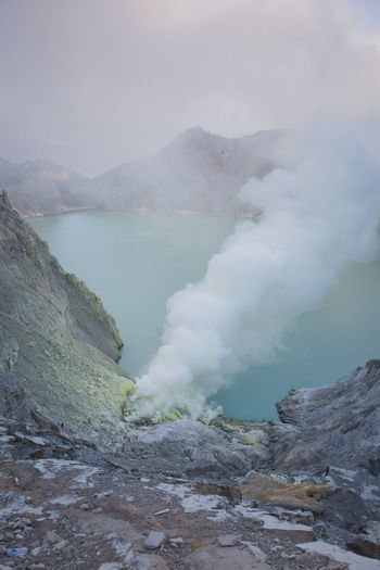 Geology Smoke - Physical Structure Beauty In Nature Mountain Physical Geography Volcano Water Scenics - Nature Heat - Temperature Power In Nature Land Nature Erupting Non-urban Scene Emitting Steam Environment Day No People Landscape Outdoors Hot Spring Volcanic Crater