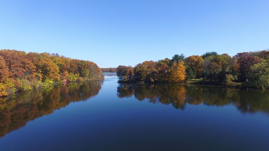 Reflection Water Nature Tree Clear Sky Autumn Outdoors Dronephotography Drone