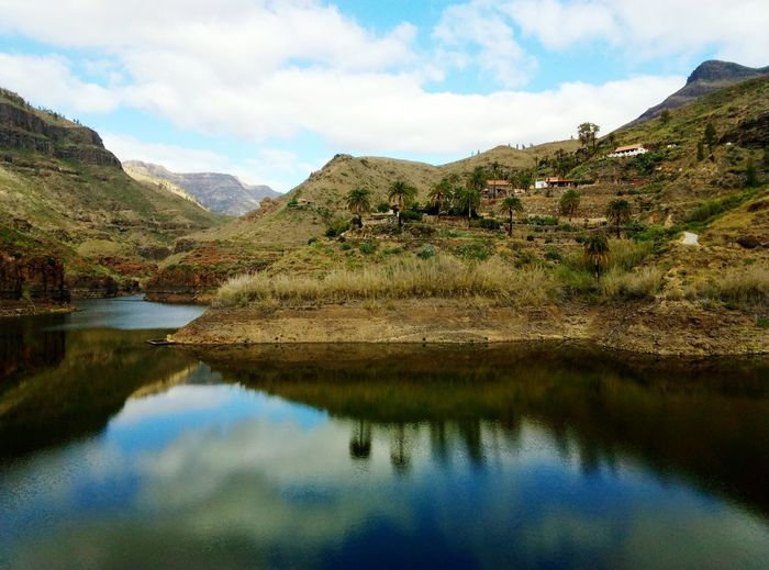 EyeEm Selects lake on gran canaria island Travel Photography Top View Horizon Over Water Idyllic Travel Gran Canaria Relax Tranquility Lake Reflection
