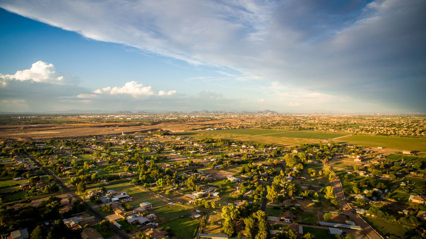 Rural area Growth Landscape Sunset Sunlight Beauty City Sky Outdoors No People Nature Inspire 1 Dronephotography Drone  Samsung Getty Images 4K AZ Arizona NX1 High Angle View City Sunlight Aerial View DoomMedia