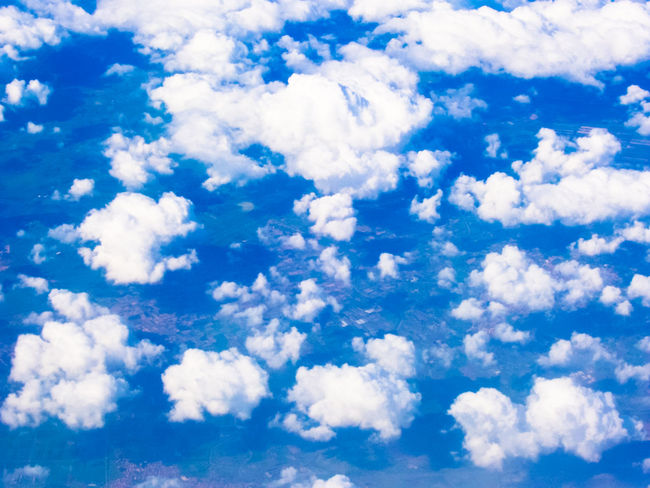 Backgrounds Beauty In Nature Blue Cloud Cloud - Sky Cloudscape Cloudy Cumulus Cloud Day Fluffy Full Frame Idyllic Low Angle View Majestic Nature No People Outdoors Scenics Sky Sky Only Softness Tranquil Scene Tranquility White White Color